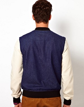 Image 2 ofASOS Denim Bomber Jacket
