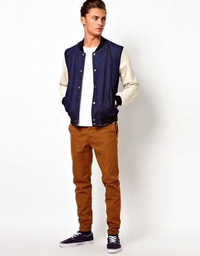 Image 4 ofASOS Denim Bomber Jacket