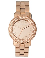 Marc by Marc Rose Gold Diamante Detailed Watch