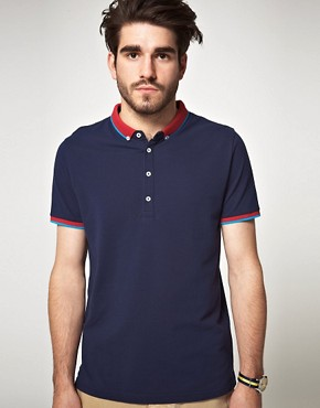 Image 1 of ASOS Polo Shirt With Contrast Collar