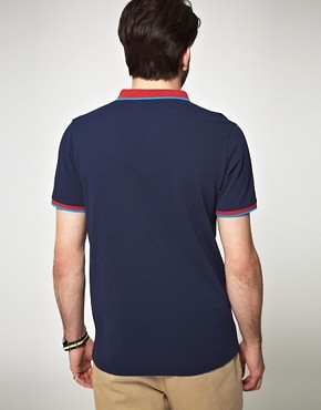 Image 2 of ASOS Polo Shirt With Contrast Collar