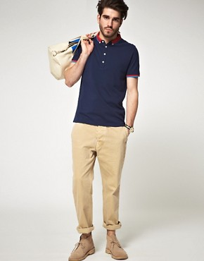 Image 4 of ASOS Polo Shirt With Contrast Collar