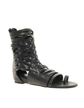 Image 1 ofBlink Leather Gladiator Flat Sandal