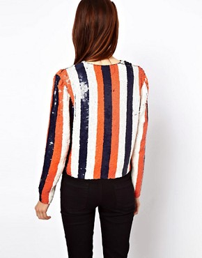 Image 2 ofASOS Sequin Stripe Jacket