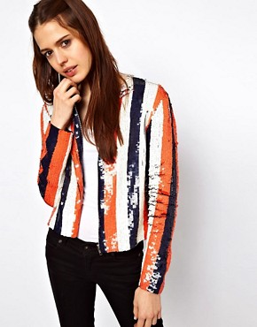 Image 1 ofASOS Sequin Stripe Jacket
