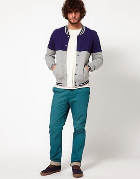 Image 4 ofASOS Heavyweight Slim Chino With Contrast Turn Up