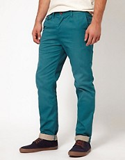 ASOS Heavyweight Slim Chino With Contrast Turn Up