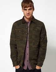 Camisa de camuflaje de River Island