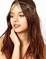 River Island Stone And Chain Crown Head Band