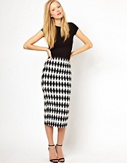 ASOS Pencil Skirt in Diamond Jacquard