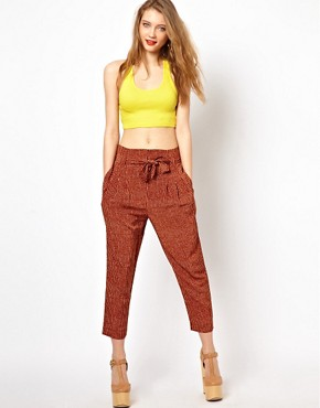 Image 1 ofViva Vena High Waisted Pants with Pleat Front
