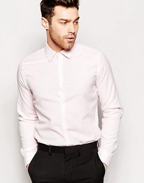 French Connection Pink Oxford Slim Fit Shirt