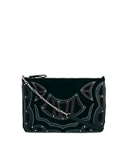River Island Black Appliqued Suede Cross Body Bag