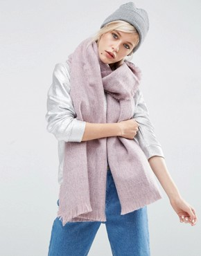 ASOS Oversized Long Woven Scarf In Two Tone