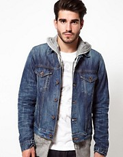 Edwin Denim Jacket Bronco Blurred Wash