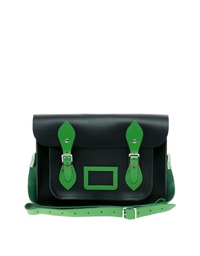 Image 1 ofCambridge Satchel Company 13&quot; Exclusive to Asos Contrast Trim Satchel