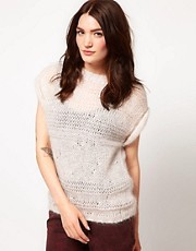IRO Roll Sleeve Laddered Jumper