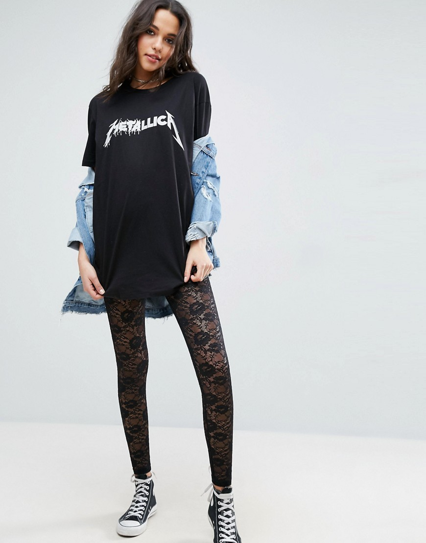 ASOS Ultimate Lace Festival Leggings - Black