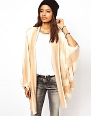 Diesel  Gestreifte Kimono-Strickjacke