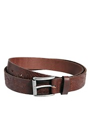 ASOS Floral Embossed Leather Belt