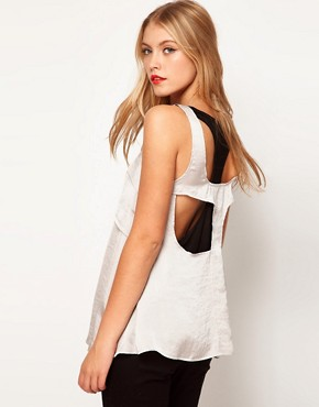 Image 1 ofASOS Vest With Double Layer And Cutout Back