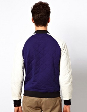 Image 2 ofASOS Varsity Jacket In Quilted Fabric