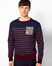 Kangol Striped Sweatshirt