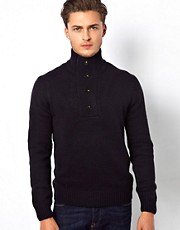French Connection Sweater Button Neck