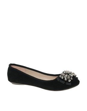 Image 1 ofMiss KG Lolita Jewelled Ballet Flat Shoes