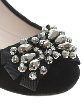 Image 2 ofMiss KG Lolita Jewelled Ballet Flat Shoes
