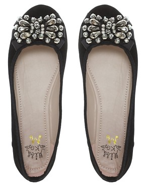 Image 3 ofMiss KG Lolita Jewelled Ballet Flat Shoes