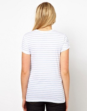 Image 2 ofASOS Maternity Time For Tea Striped T-Shirt