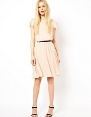 River Island Hi Lo Belted Dress