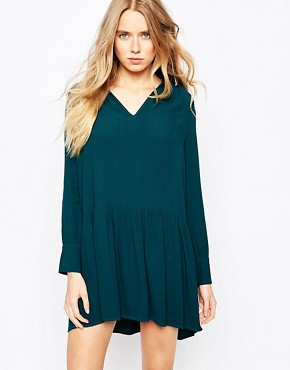 BA&SH Astor Shirt Dress in Peplum Frill