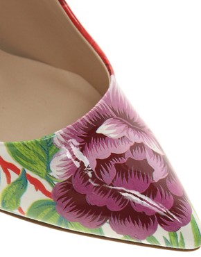 Image 3 ofDune Delila Floral Pointed Court Shoes