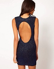 John Zack Sparkle Open Back Dress