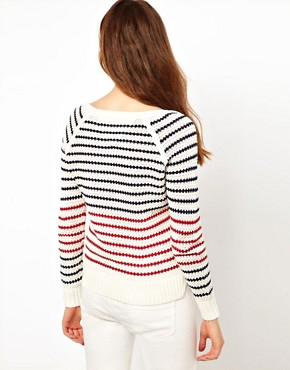 Image 2 ofHilfiger Denim Striped Knit Jumper