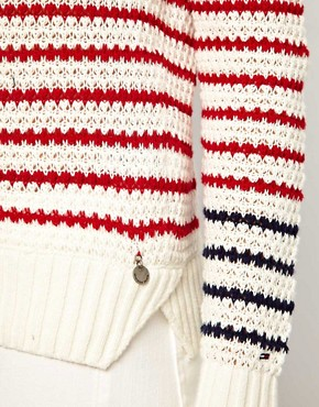 Image 3 ofHilfiger Denim Striped Knit Jumper