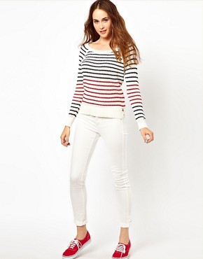 Image 4 ofHilfiger Denim Striped Knit Jumper