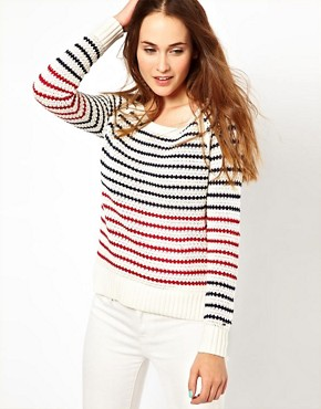 Image 1 ofHilfiger Denim Striped Knit Jumper