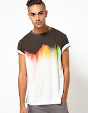 55DSL T-Shirt Tinge Ombre Print