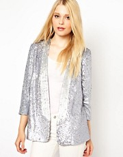 French Connection Sequin Drape Blazer