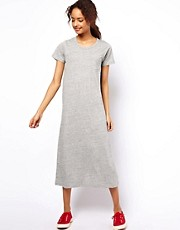 White Chocoolate T-Shirt Maxi Dress