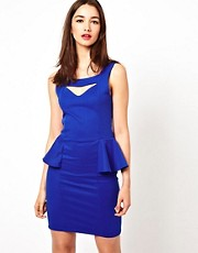 A Wear Cut Out Peplum Dress