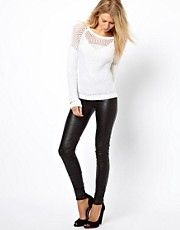 Vila Leather Look Pant