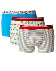 ASOS 3 Pack Trunks With Stars