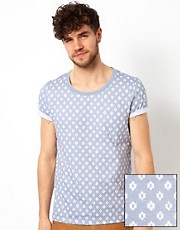 ASOS T-Shirt With All Over Ikat Print