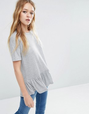 ASOS T-Shirt With Ruffle Hem