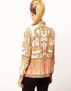 Image 2 ofASOS Shirt With Placement Paisley Print