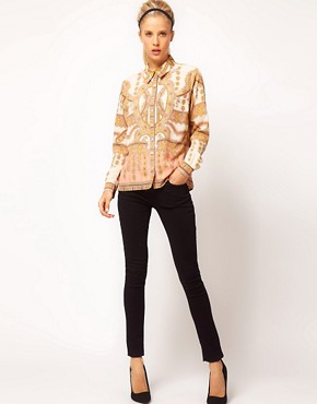 Image 4 ofASOS Shirt With Placement Paisley Print